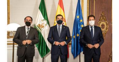 Moreno se reúne en San Telmo con los presidentes de la CEA y de CEPYME<br/><span style='color: #077dbc;font-size:65%;'>El Ejecutivo andaluz está realizando un destacado esfuerzo económico desplegando una batería de medidas para ayudar y proteger el tejido empresarial</span>