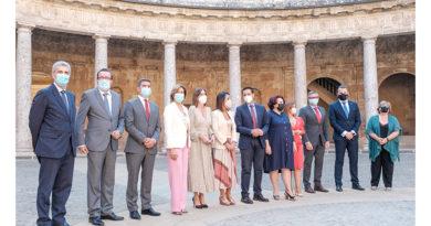 El Parlamento de Andalucía aprueba una Declaración Institucional de reconocimiento y apoyo a la provincia de Granada<br/><span style='color: #077dbc;font-size:65%;'>La Mesa de la Cámara ha celebrado una reunión en el Palacio de Carlos V de la Alhambra</span>